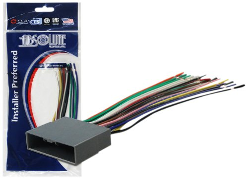 Absolute USA H812/1722 Radio Wiring Harness for Honda/Civic CRV/Pilot 2006-2010 Power 4 Speaker (70-1722, HWH-812) (Honda Civic Wire Harness compare prices)