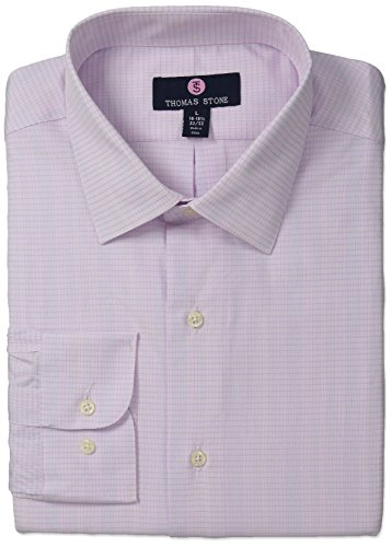 thomas-stone-mens-tailored-fit-check-spread-collar-dress-shirt-white-pink-15-155-neck-32-33-sleeve-m
