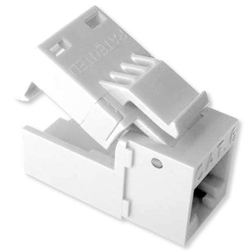 Platinum Tools EZ-SnapJack Connector, Cat6 (4 Pack), White