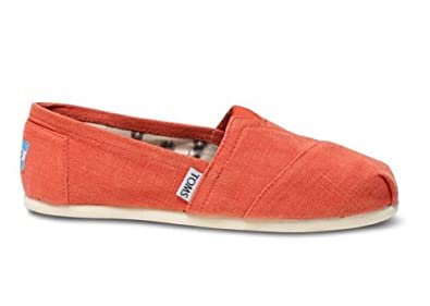 TOMS Women's Classics Earthwise Shoe Orange Size 11 B(M) US