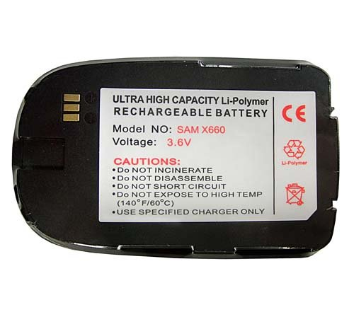 Accumulatore Li-Polymer Samsung SGH-X660v, SGH-X660