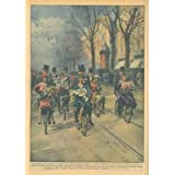 A Parigi, un allegra coppia di sposi si e recata al Municipio sulla stessa bicicletta. I testimoni e i parenti...