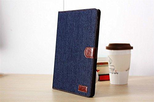 Borch Fashion Luxury Multi-function Protective Denim Light-weight Folding Flip Smart Case Cover for Ipad 2 3 4 (Black)