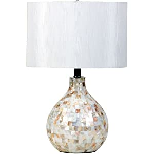 Pearl and White Table Lamp by Coaster Furniture