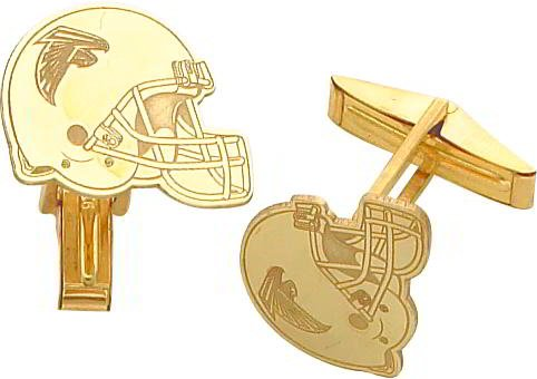 14K Gold NFL Atlanta Falcons Football Helmet Cuff Links