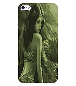 ColourCraft Amazing Lady Drawing Design Back Case Cover for APPLE IPHONE 4