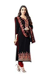 Black Colored Designer Straight Suit