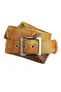 World Finds Fair Trade Recycled Kantha Belt (Golds/Browns)