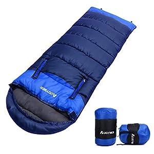 AUGYMER シュラフ 寝袋 封筒型 最新型手が出せる可能 最低使用温度-5℃ 1.35kg 220cm 1人用