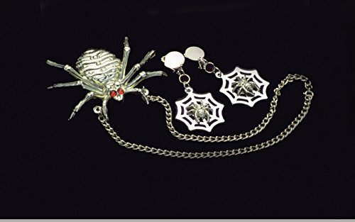 Loftus Spider Necklace and Earrings 3pc Accessory Kit Silver One Size