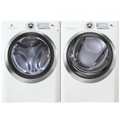 Electrolux Wave-Touch White Front Load Laundry Pair with EWFLS70JIW 27