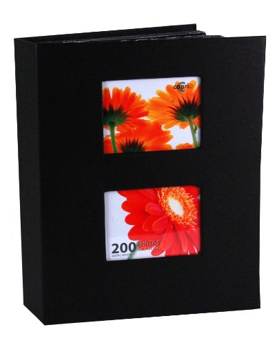 Kiera Grace Photograph Album, Holds 200 Four-Inch via 6-Inch Pictures, Black