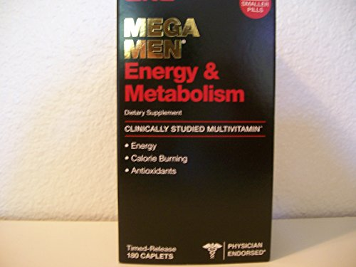 GNC Mega Men Energy & Metabolism MultiVitamin 180 Vitamin Ca