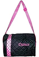 Small Dance Duffle Bag with Zipper Top and 2 Side Pockets for Dance