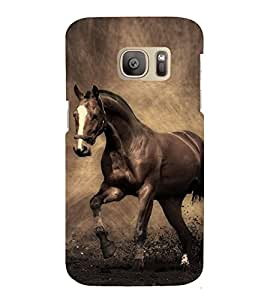 Fuson Premium Back Case Cover Riding Horse With Multi Background Degined For Samsung Galaxy S7::Samsung Galaxy S7