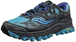 Saucony Women\'s Xodus 6.0 Trail Running Shoe, Blue/Grey, 9 M US