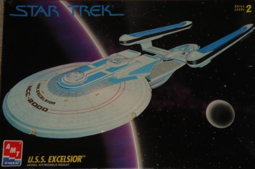 Star Trek U.S.S. EXCELSIOR NCC-2000 Starship Plastic Model Kit (AMT 1994)