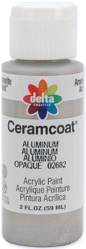 Plaid Delta 2682 2-Ounce Ceramcoat Acrylic Paint, Aluminum front-468069