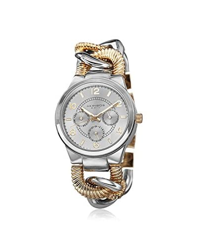 Akribos XXIV Women's AK721TTG Multifunction Chain Link Two-Tone Alloy Watch