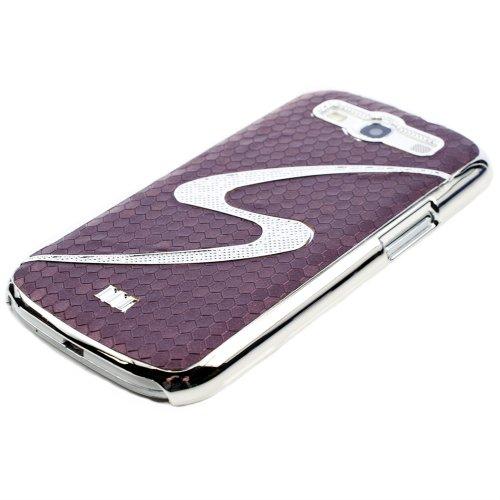 KWMOBILE angesagtes und top modisches S-Line Hardcase für das Samsung Galaxy S3 i9300 in der Farbe VIOLETT