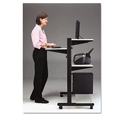 Mayline Adjustable Computer Table 8432SOGRYBLK