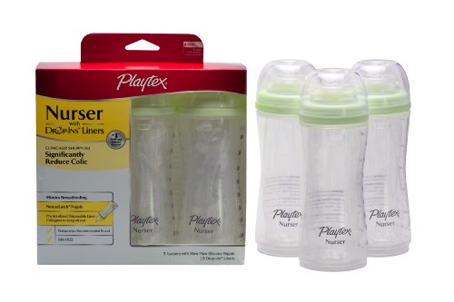Playtex 3 Pack Baby Drop Ins Nurser 8 Ounce Colors May VaryB0006FHBBA