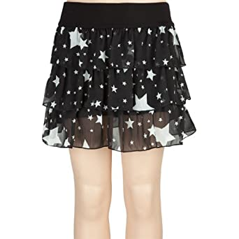 Amazon.com: FULL TILT Star Chiffon Girls Ruffle Skirt: Clothing