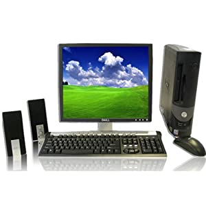 Dell Super Fast Optiplex Computer With LCD Flat Panel Monitor Included, Big 40 GB (Gigabyte) Hard Drive, 1 GB RAM, P4 Desktop PC, Single Core 2.8Ghz. Processor, XP