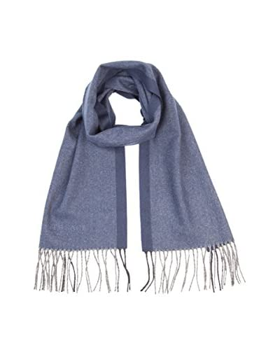 Versace Men's Plain Scarf, Blue