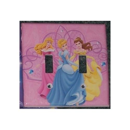 Disney Princess Cinderella Aurora Belle Double Switchplate
