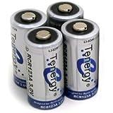 4 pcs Tenergy RCR123A 3.0V 900mAh Rechargeable Li-Ion Batteries