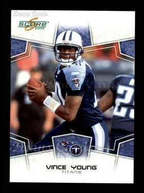 2008 Score # 314 Vince Young Tennessee Titans (Football Card) Dean's Cards 8 - NM/MT