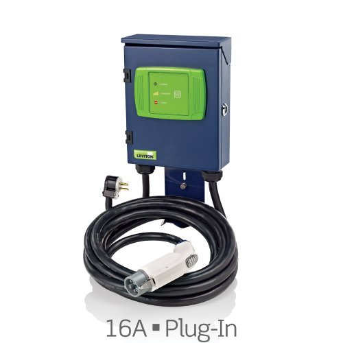 Evr-Green Level 2, 16A, 240V Electric Vehicle Charging Station, 3.8kW output, cord-connected (plug-in). EVB22-3PM