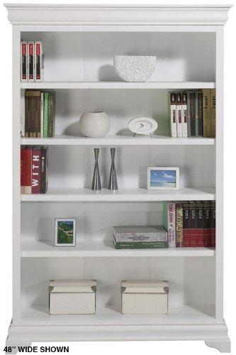 Louis Philippe Open Bookcase 36w White Price
