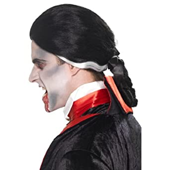 Smiffy's Men's Colonial Vamp Wig with Ponytail In Display Box