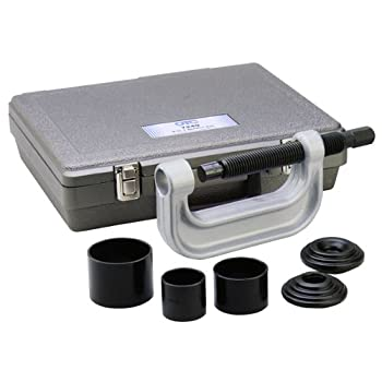 This OTC kit removes and installs press-fit parts such as ball joints, universal joints, and truck brake anchor pins. The kit contains 3 receiver tubes (2-3/4 inch I.D. x 3 inch O.D., 2-1/4 inch I.D. x 2-1/2 inch O.D., and 1-3/4 inch I.D. x 2 inch O....