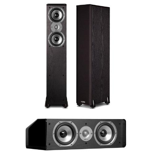 Polk Audio Tsi300 Floorstanding Speakers (Pair) Plus A Polk Audio Cs10 Center Channel Speaker