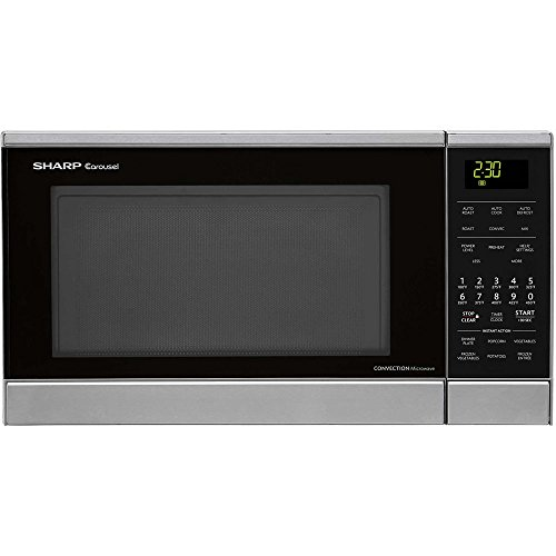 Sharp R830BS 900 Watts Convection Microwave Oven, 0.9 cu.ft, Stainless Steel (Small Microwave Convection Oven compare prices)