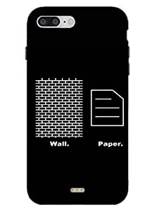 Wallpaper - Wall Plus Paper - Hard Back Case Cover for iPhone 7 - Superior Matte Finish - HD Printed Cases and Covers