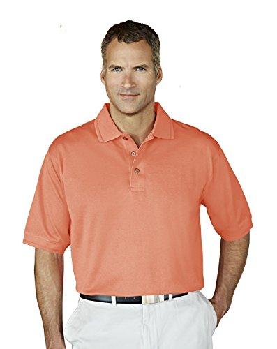 Tri-Mountain Mens Double Mercerized Cotton Pique Golf Shirt. 450Tm - Coral_Xl front-555378