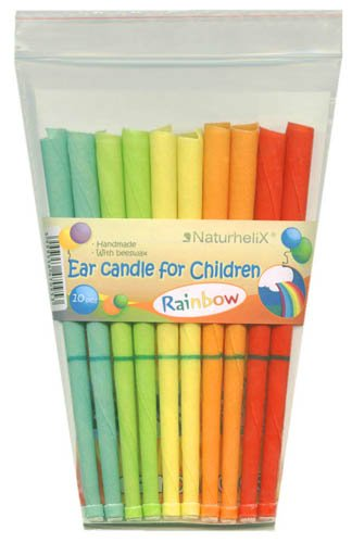 Naturhelix Ear Candles for Children handmade with beeswax, pure essential oils, filter & protective disk - 5 pairs FREE P & P in UK