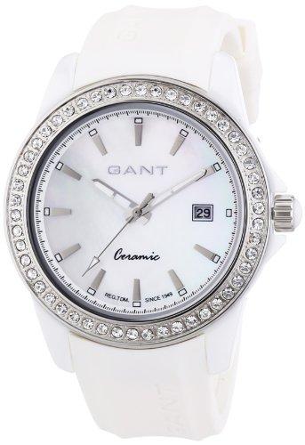GANT W70442 - Reloj analógico de cuarzo para mujer, correa de plástico color blanco