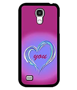 printtech Love You Back Case Cover for Samsung Galaxy S4 Mini::Samsung Galaxy S4 Mini i9190