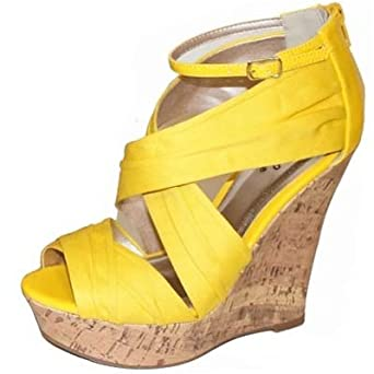 PEEP TOE STRAP DESIGN CUTE WEDGES