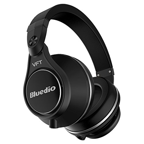 Bluedio U Plus(UFO Plus) High-end Bluetooth 4.1 Patented PPS12 Drivers Over-Ear Bluetooth ヘッドホン ワイヤレスヘッドセット 折り畳み式 (ブラック)