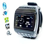 2013 Newest Avatar 1.3 inch mobile phone wrist watch (bluetooth, mp3/mp4 player, phone, gadget),Free 2GB memory card!