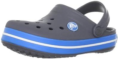 Crocs Crocband Kids 10998-07W-105, Unisex - Kinder Pantoletten, Grau (Gris (Charcoal/Ocean)), EU 19-21 (UK C4-5)