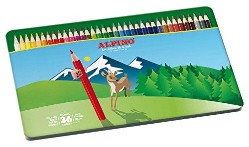 alpino-al000760-estuche-metalico-de-36-lapices-colores-surtidos-1-unidad
