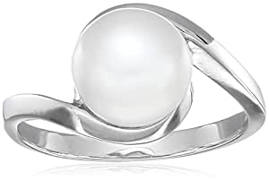 Sterling Silver White Freshwater Cultured Pearl Ring (5.5-6mm), Size 5