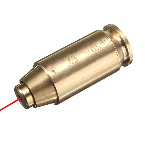 45 ACP Laser BoreSight/Boresighter/Bore Sight, Freehawk Cartidge Laser Bore Sighter .45ACP/.45 Boresight-Tactical Training Red Dot Laser Sight Bullet Shaped In-Chamber Bore Sighter,Brass (45 Laser) (Glock Target Sights compare prices)